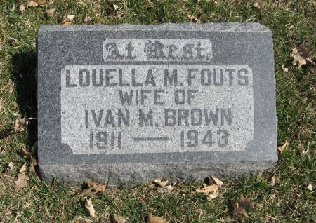 FOUTS BROWN, LOUELLA M. - Harrison County, Iowa | LOUELLA M. FOUTS BROWN
