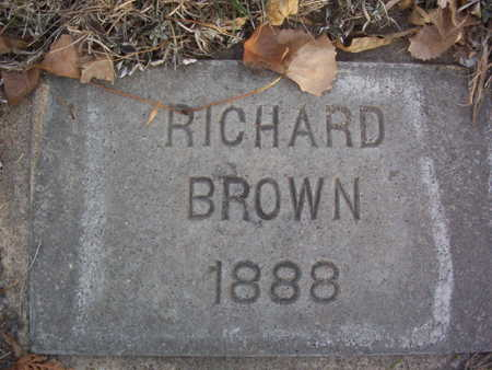 BROWN, RICHARD - Harrison County, Iowa | RICHARD BROWN