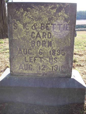CARD, INFANT SON - Harrison County, Iowa | INFANT SON CARD