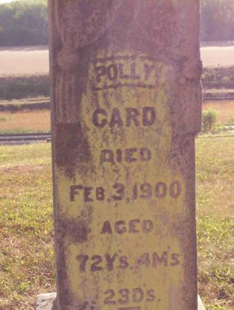 CALVIN CARD, POLLY - Harrison County, Iowa | POLLY CALVIN CARD