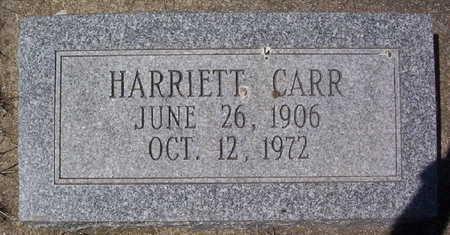 CARR, HARRIETT - Harrison County, Iowa | HARRIETT CARR
