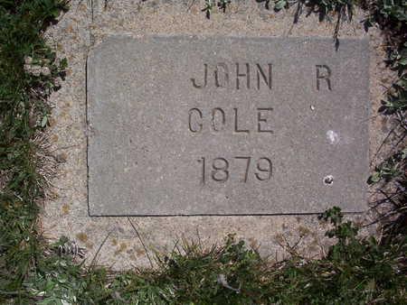 COLE, JOHN R. - Harrison County, Iowa   JOHN R. COLE