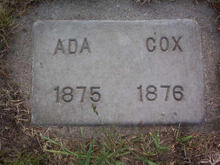 COX, ADA A. - Harrison County, Iowa | ADA A. COX