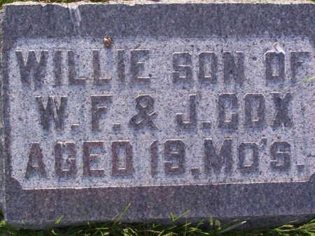 COX, WILLIAM WOODROW - Harrison County, Iowa | WILLIAM WOODROW COX