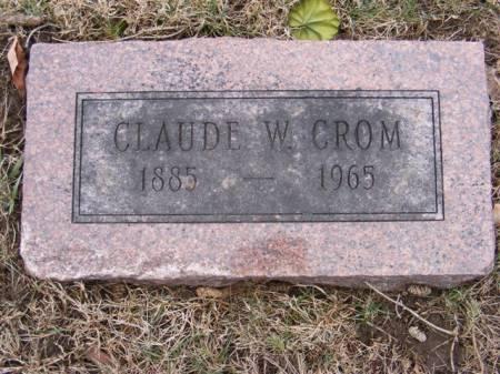 CROM, CLAUDE W. - Harrison County, Iowa   CLAUDE W. CROM