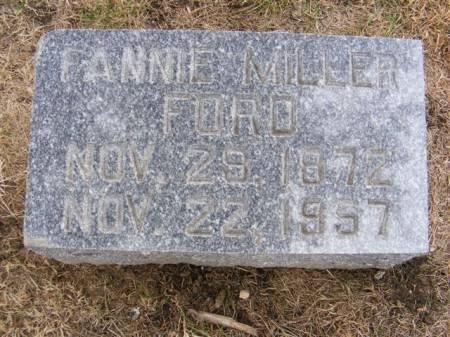 FORD, FANNIE MILLER - Harrison County, Iowa   FANNIE MILLER FORD