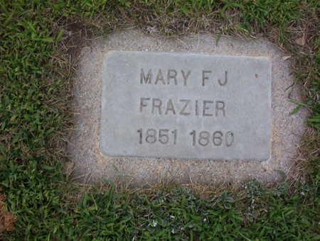 FRAZIER, MARY FRANCES JOSEPHINE - Harrison County, Iowa | MARY FRANCES JOSEPHINE FRAZIER