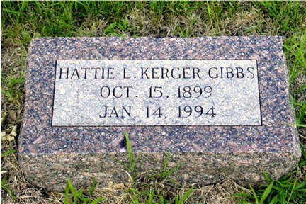 KERGER GIBBS, HATTIE L - Harrison County, Iowa | HATTIE L KERGER GIBBS