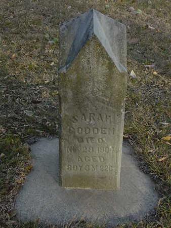 GODDEN, SARAH - Harrison County, Iowa   SARAH GODDEN