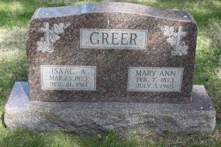 GREER, ISAAC A - Harrison County, Iowa   ISAAC A GREER