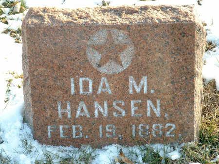 HANSEN, IDA M - Harrison County, Iowa | IDA M HANSEN