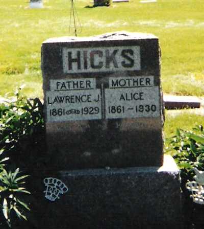 HICKS, LAWRENCE J. - Harrison County, Iowa | LAWRENCE J. HICKS