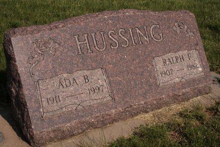 PITT HUSSING, ADA B. - Harrison County, Iowa | ADA B. PITT HUSSING