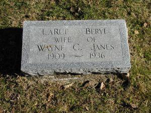 JANES, LARUE BERYL - Harrison County, Iowa | LARUE BERYL JANES