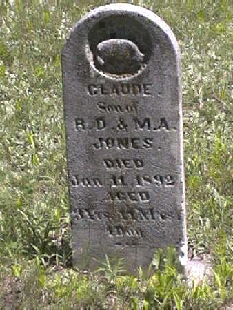 JONES, CLAUDE - Harrison County, Iowa | CLAUDE JONES