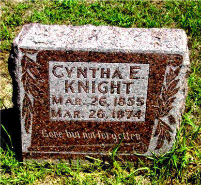 KNIGHT, CYNTHA E - Harrison County, Iowa | CYNTHA E KNIGHT