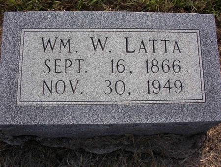 LATTA, WILLIAM W - Harrison County, Iowa | WILLIAM W LATTA