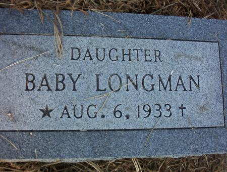 LONGMAN, BABY DAUGHTER - Harrison County, Iowa | BABY DAUGHTER LONGMAN