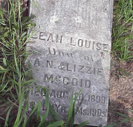 MCCOID, LEAH LOUISE - Harrison County, Iowa | LEAH LOUISE MCCOID