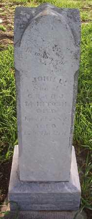MCINTOSH, JOHN L. - Harrison County, Iowa   JOHN L. MCINTOSH