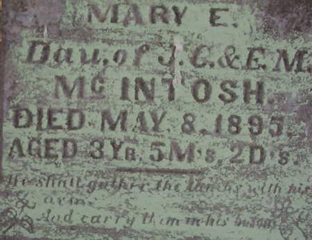 MCINTOSH, MARY E. - Harrison County, Iowa | MARY E. MCINTOSH