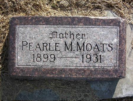 MOATS, PEARLE M - Harrison County, Iowa | PEARLE M MOATS