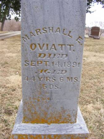 OVIATT, MARSHALL E. - Harrison County, Iowa | MARSHALL E. OVIATT