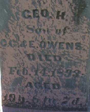 OWENS, GEORGE H. - Harrison County, Iowa | GEORGE H. OWENS