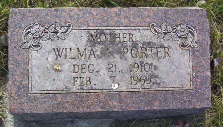 FRAZIER PORTER, WILMA FLORENCE - Harrison County, Iowa | WILMA FLORENCE FRAZIER PORTER