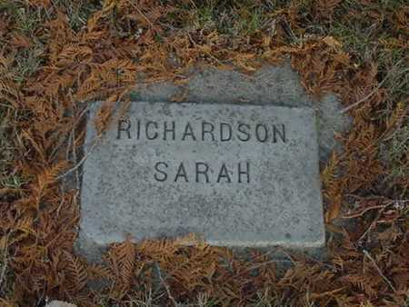 REEL RICHARDSON, SARAH - Harrison County, Iowa   SARAH REEL RICHARDSON