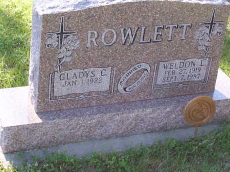 ROWLETT, WELDON L. - Harrison County, Iowa | WELDON L. ROWLETT