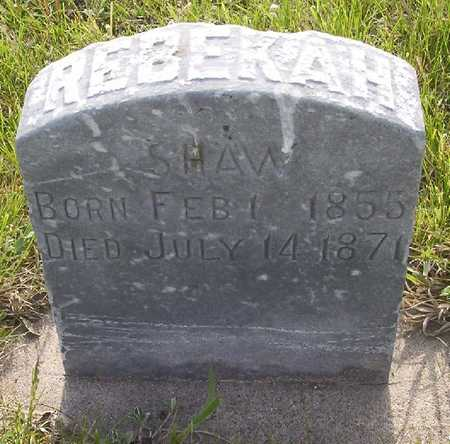 SHAW, REBEKAH - Harrison County, Iowa   REBEKAH SHAW