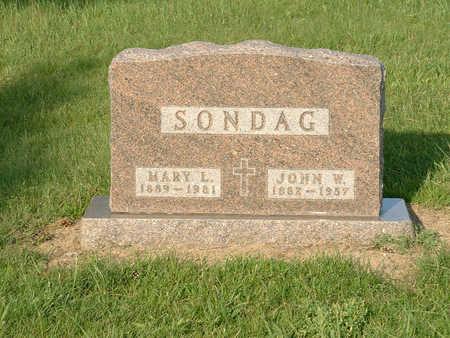 VON TERSCH SONDAG, MARY L - Harrison County, Iowa | MARY L VON TERSCH SONDAG