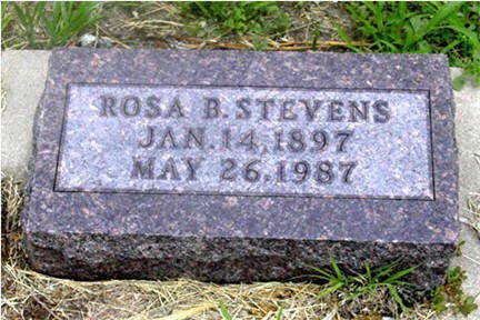 STEVENS, ROSA B - Harrison County, Iowa | ROSA B STEVENS