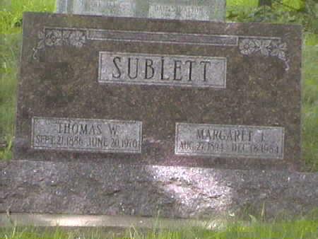 SUBLETTE, THOMAS . W - Harrison County, Iowa | THOMAS . W SUBLETTE