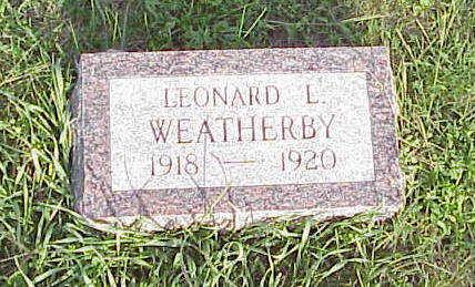 WEATHERBY, LEONARD L - Harrison County, Iowa   LEONARD L WEATHERBY