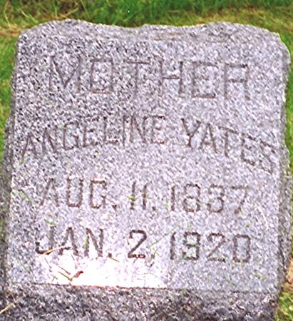 YATES, ANGELINE - Harrison County, Iowa | ANGELINE YATES