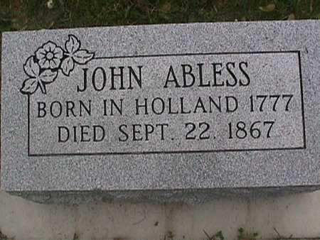 ABLESS, JOHN - Henry County, Iowa | JOHN ABLESS