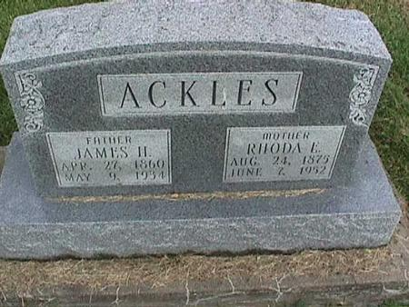 ACKLES, JAMES - Henry County, Iowa   JAMES ACKLES