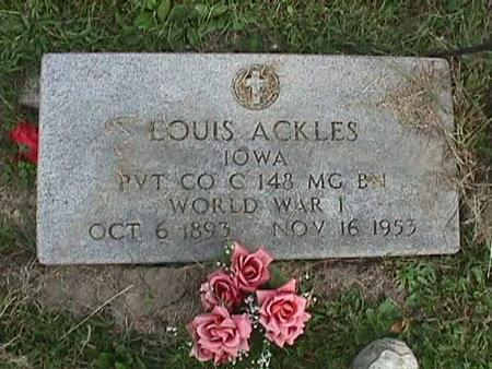 ACKLES, LOUIS - Henry County, Iowa | LOUIS ACKLES