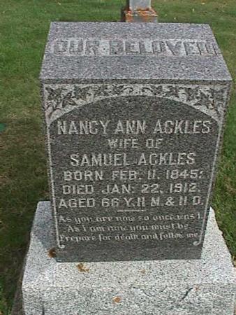 ACKLES, NANCY ANN - Henry County, Iowa | NANCY ANN ACKLES