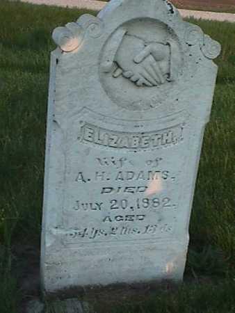 ADAMS, ELIZABETH - Henry County, Iowa   ELIZABETH ADAMS