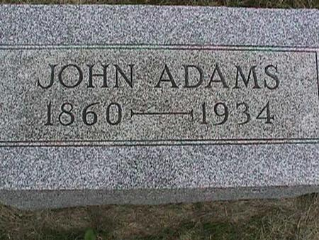 ADAMS, JOHN - Henry County, Iowa | JOHN ADAMS