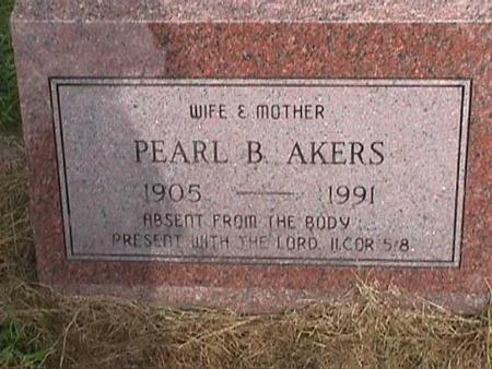 AKERS, PEARL B. - Henry County, Iowa | PEARL B. AKERS