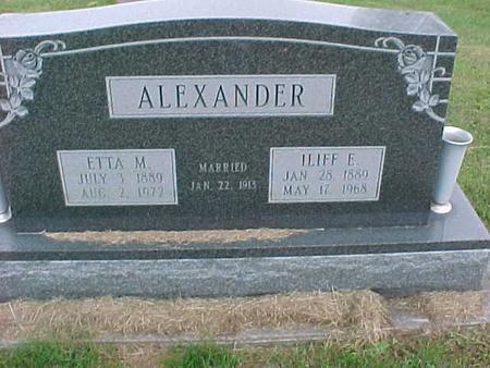 ALEXANDER, ETTA - Henry County, Iowa | ETTA ALEXANDER