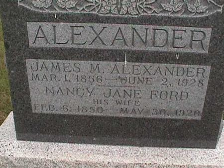 FORD ALEXANDER, NANCY JANE - Henry County, Iowa | NANCY JANE FORD ALEXANDER