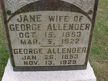 ALLENDER, GEORGE - Henry County, Iowa | GEORGE ALLENDER