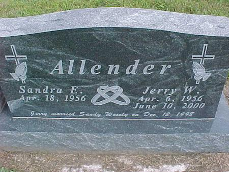 WESELY ALLENDER, SANDRA - Henry County, Iowa | SANDRA WESELY ALLENDER