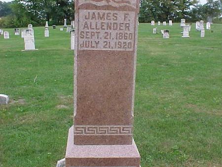 ALLENDER, JAMES F. - Henry County, Iowa | JAMES F. ALLENDER