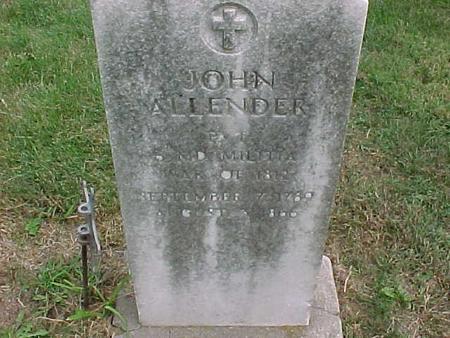ALLENDER, JOHN - Henry County, Iowa | JOHN ALLENDER